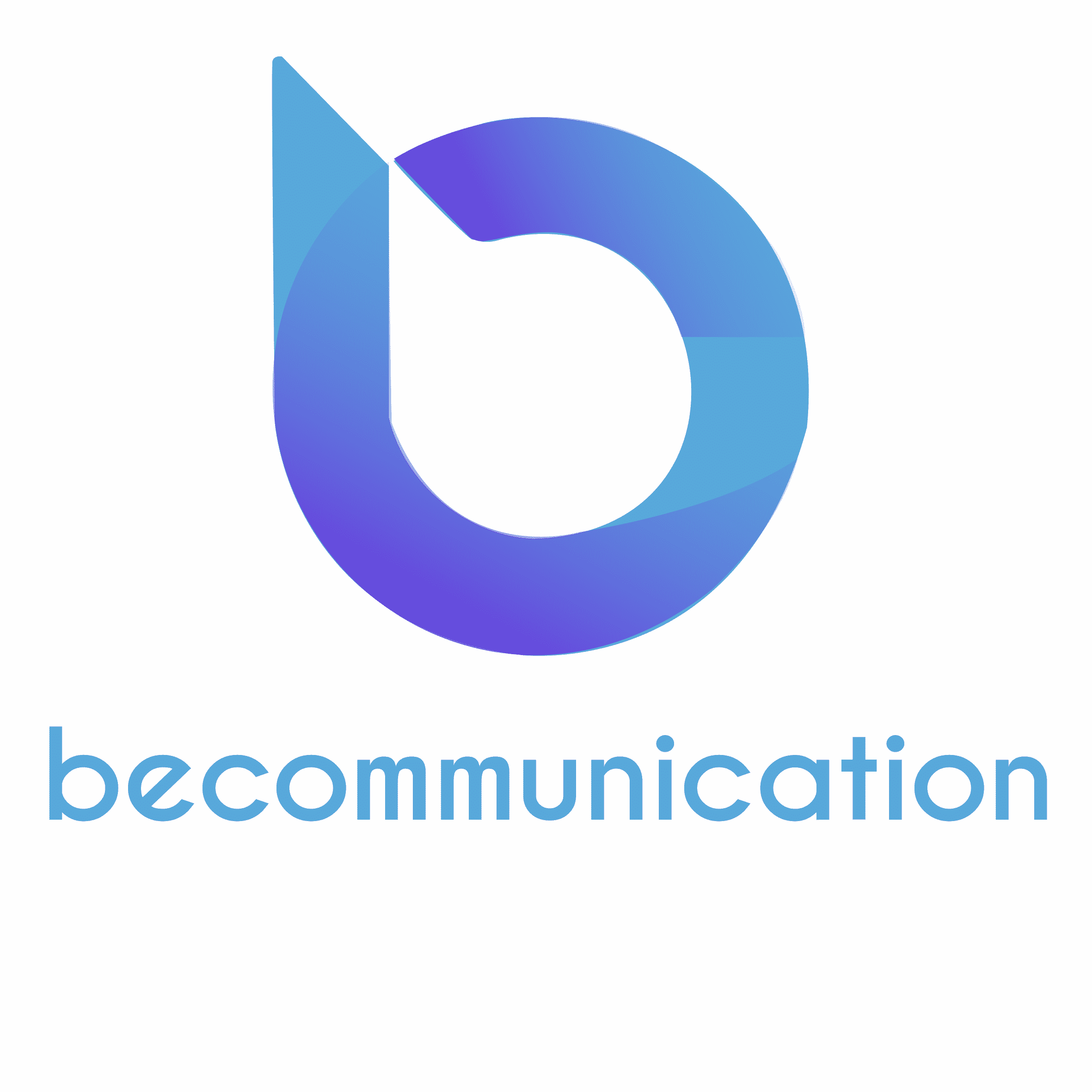 Logo becommunication texte