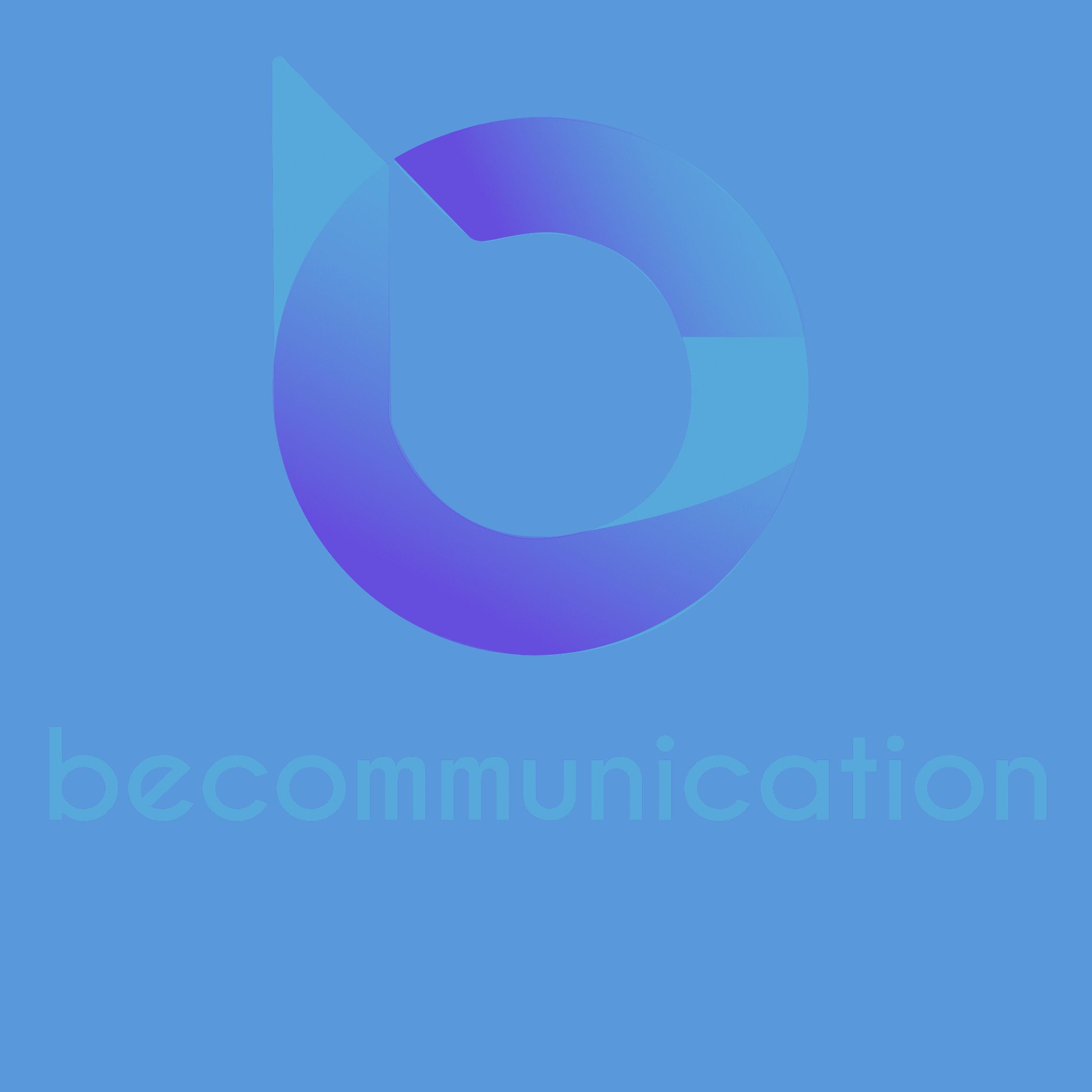 Logo becommunication texte